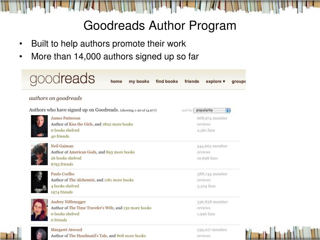 Goodreads Author Program