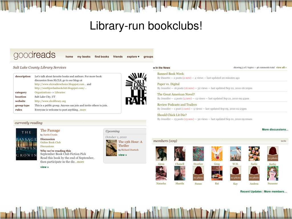 Library-run bookclubs!