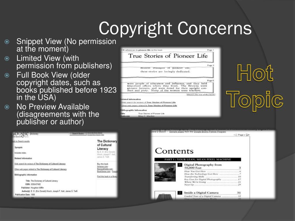 Copyright Concerns