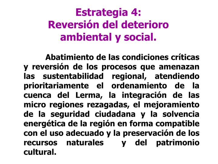 Estrategia 4: