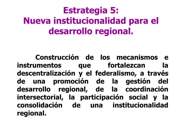 Estrategia 5: