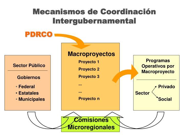 Mecanismos de Coordinación Intergubernamental