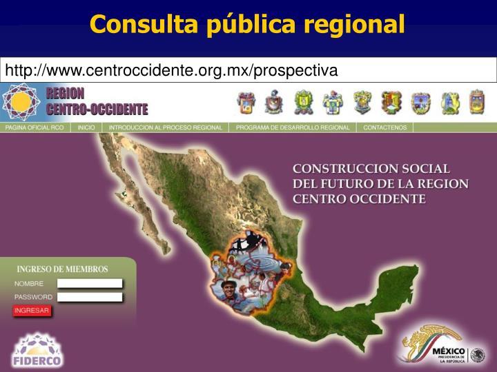 Consulta pública regional