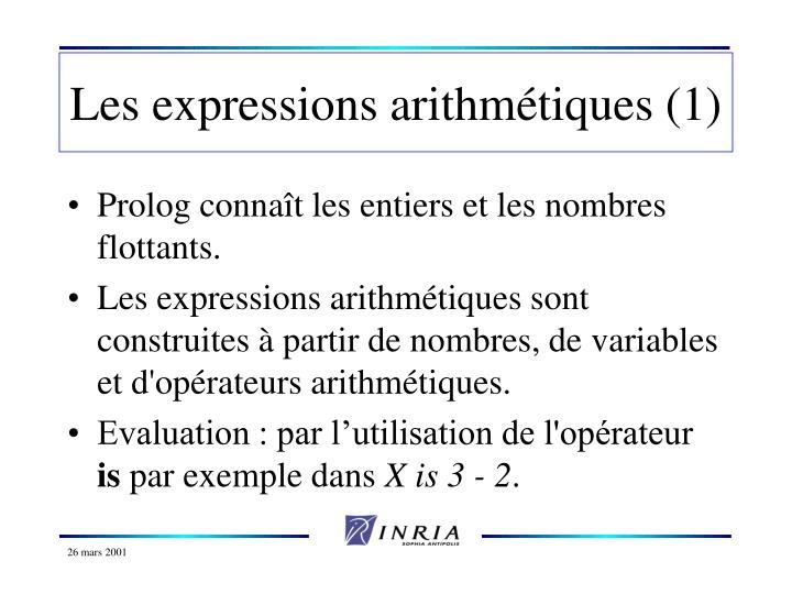 Les expressions arithmétiques (1)