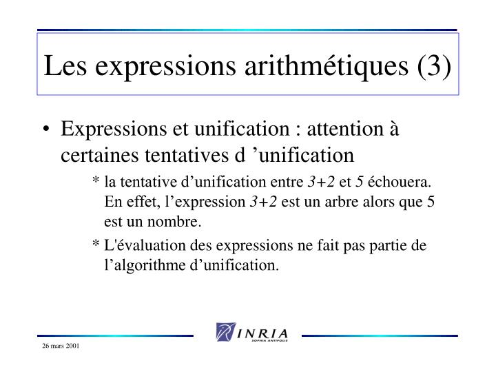 Les expressions arithmétiques (3)