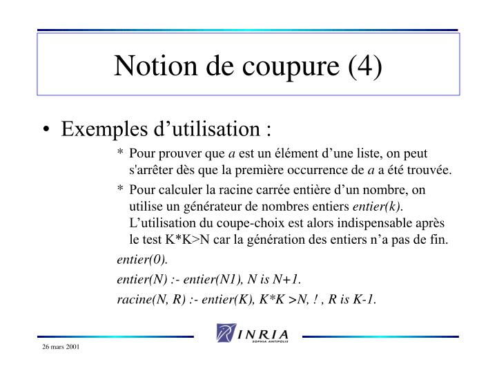 Notion de coupure (4)