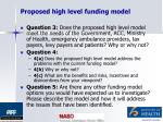 proposed high level funding model14