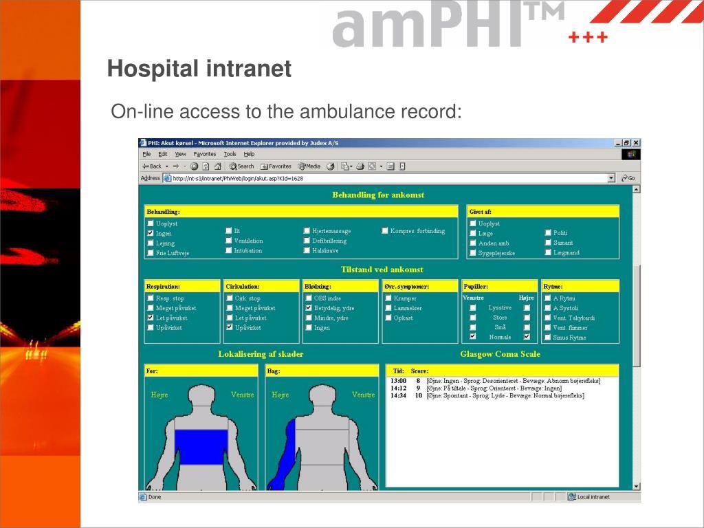 Hospital intranet