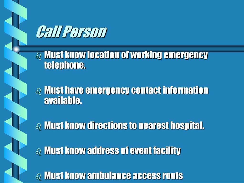 Call Person