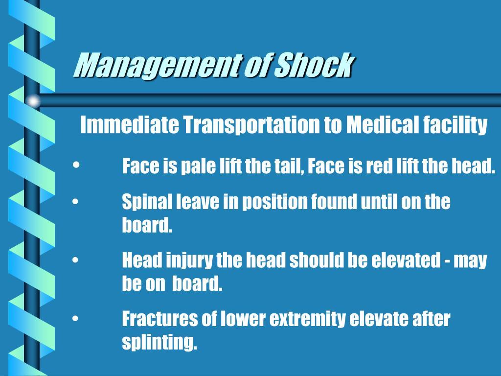 Management of Shock