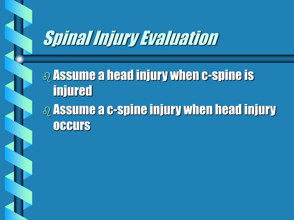 Spinal Injury Evaluation
