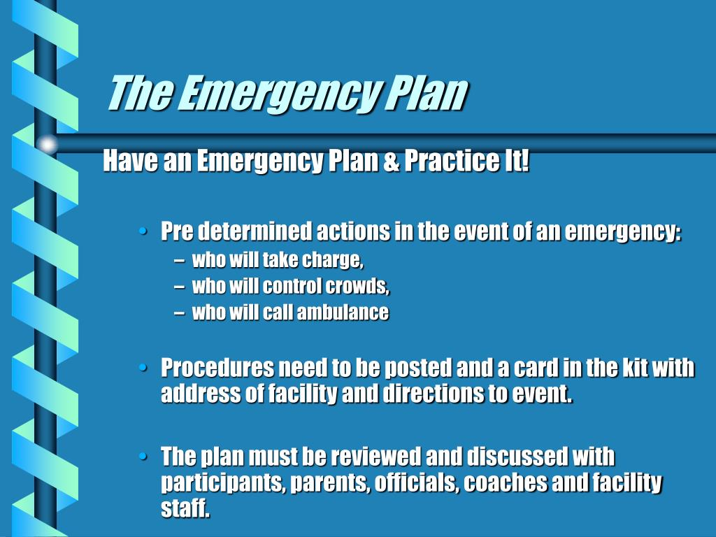 The Emergency Plan