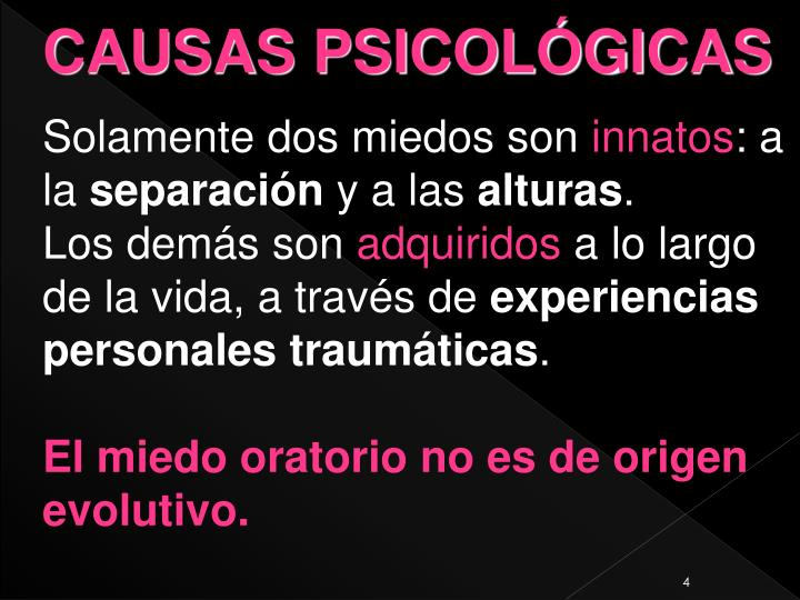 CAUSAS PSICOLÓGICAS