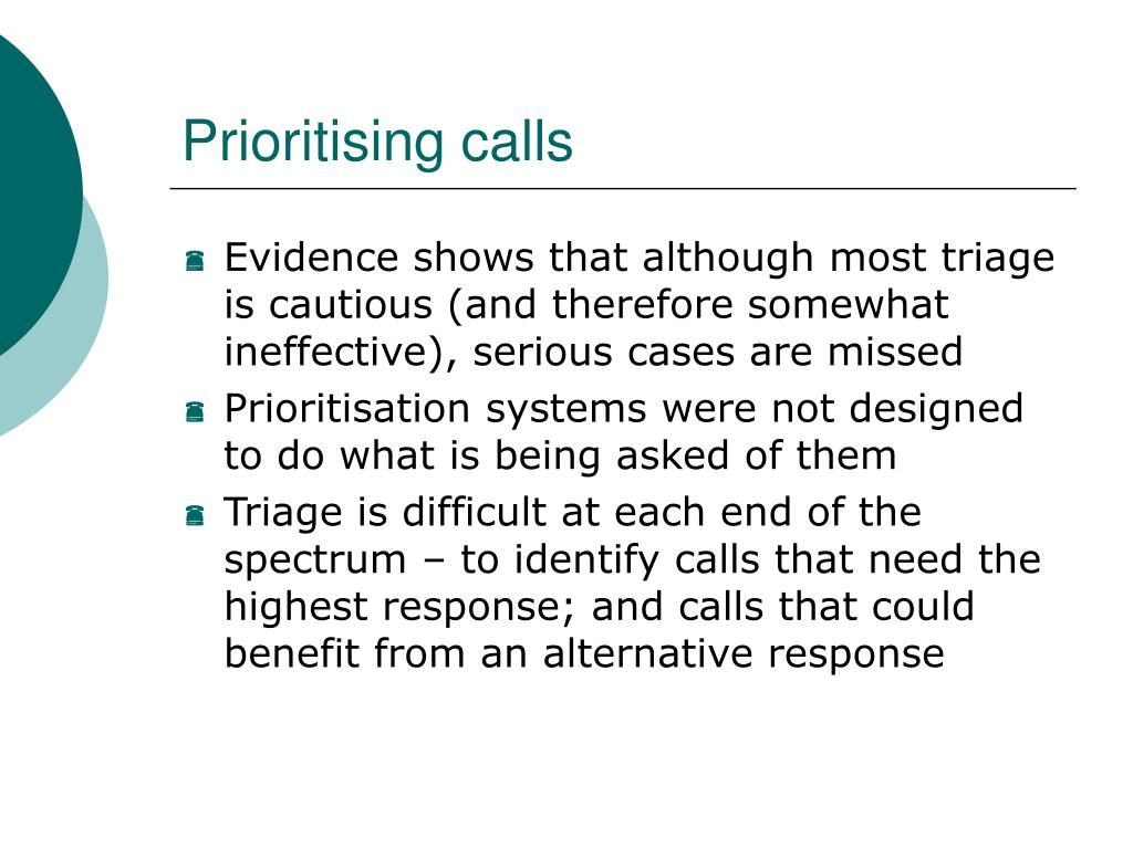Prioritising calls