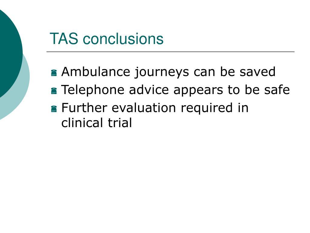 TAS conclusions
