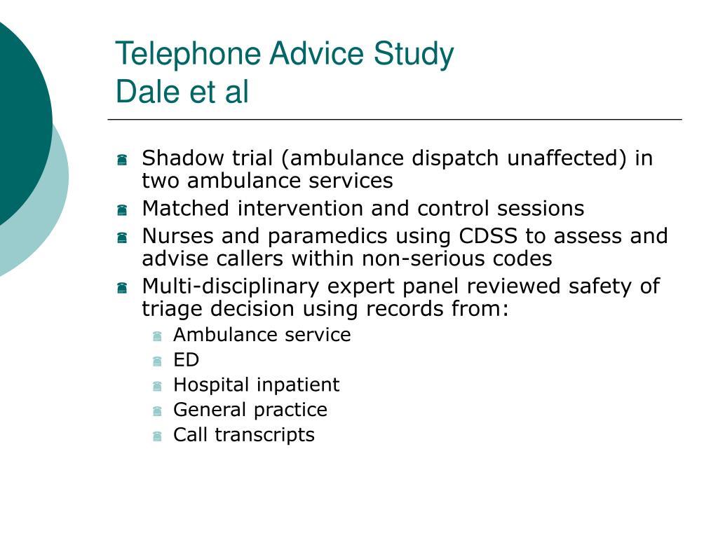 Telephone Advice Study
