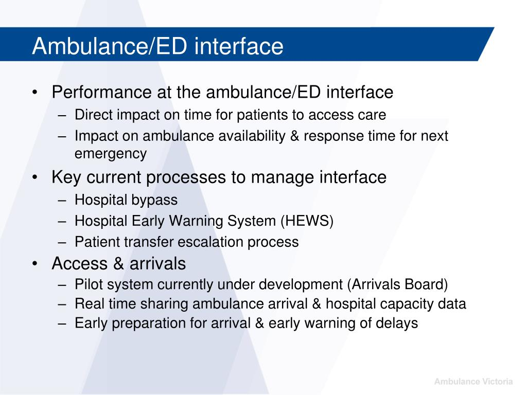 Ambulance/ED interface