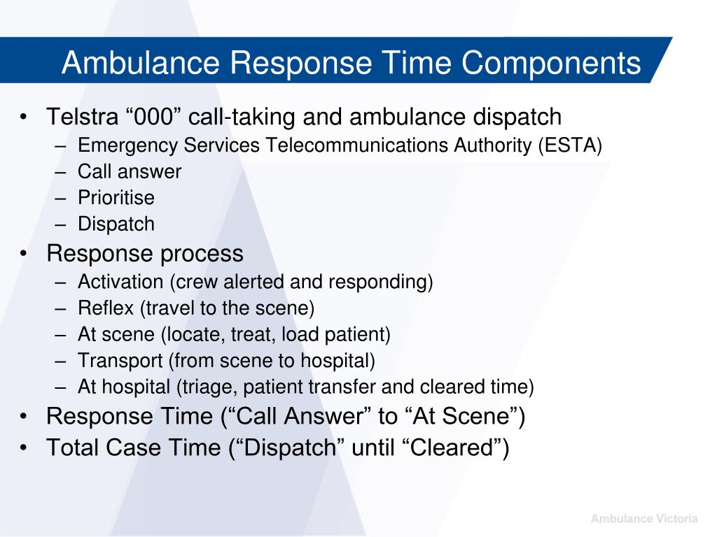 "Telstra ""000"" call-taking and ambulance dispatch"