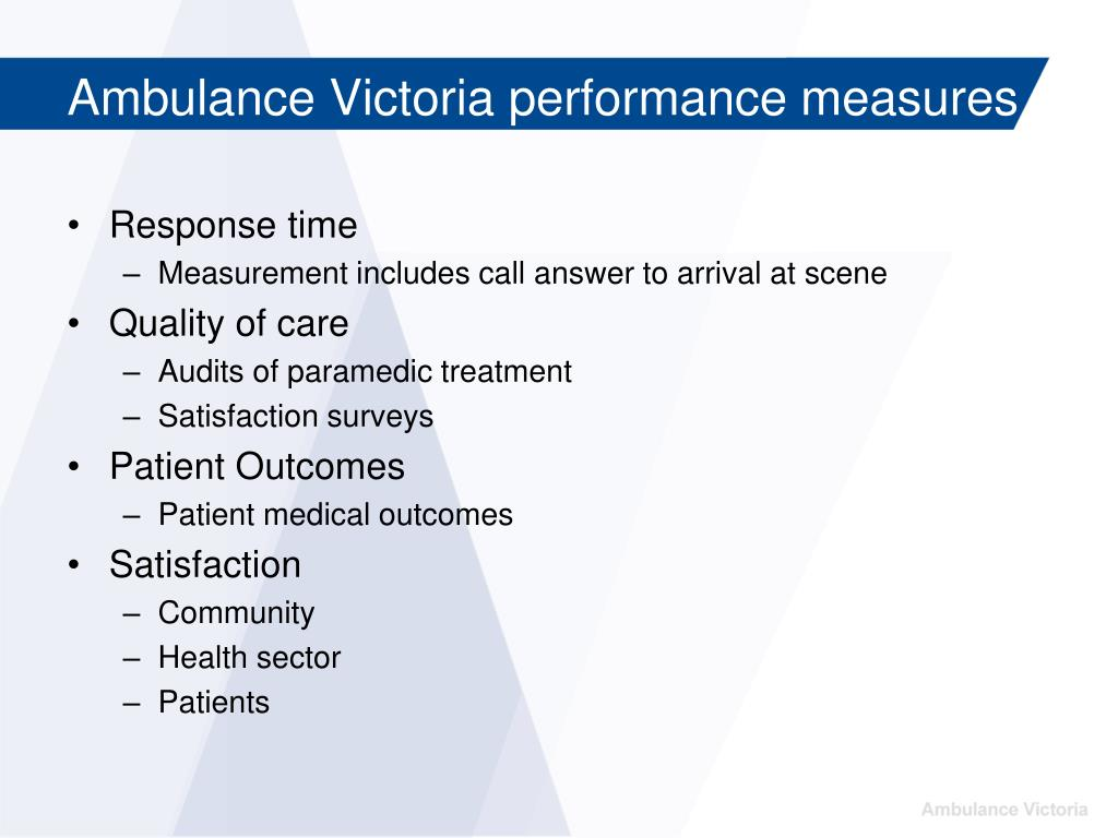 Ambulance Victoria performance measures