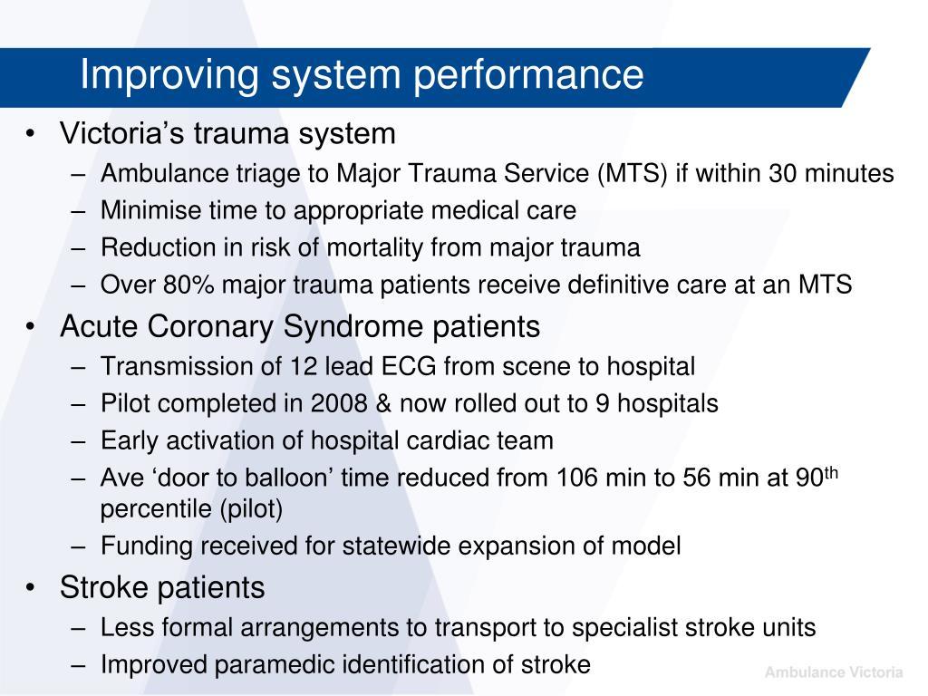 Victoria's trauma system