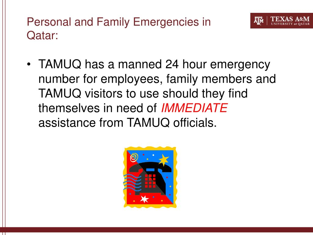Personal and Family Emergencies in Qatar: