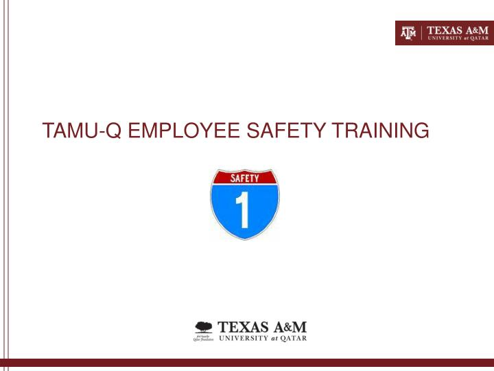 Tamu q employee safety training