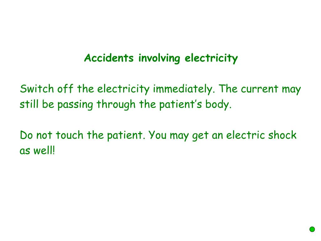 Accidents involving electricity