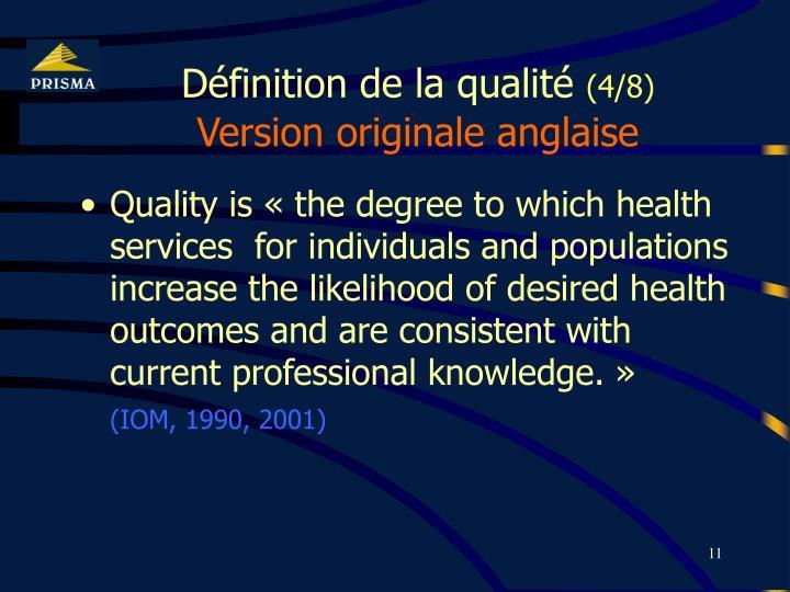 Définition de la qualité