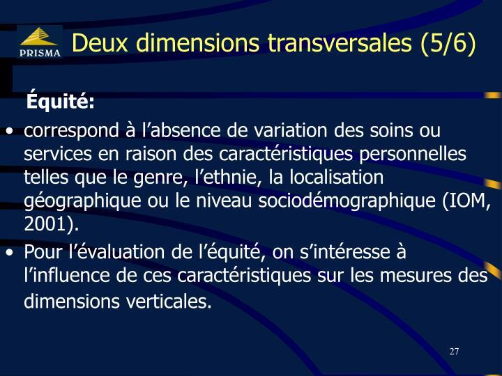 Deux dimensions transversales (5/6)