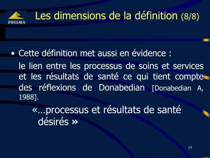Les dimensions de la définition