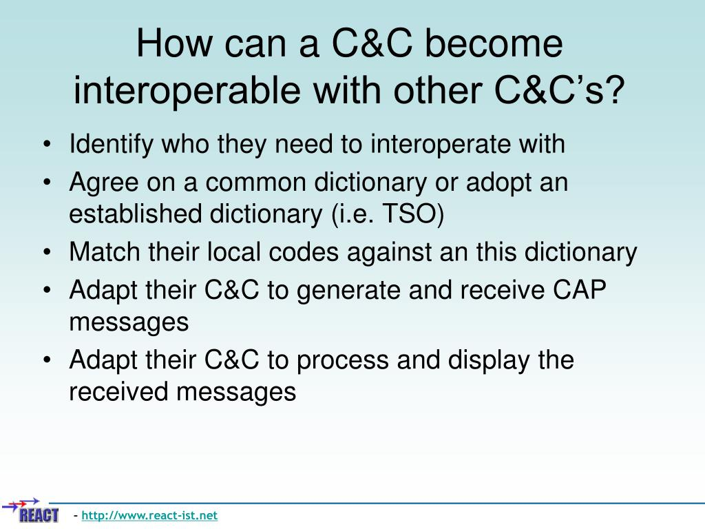 How can a C&C become