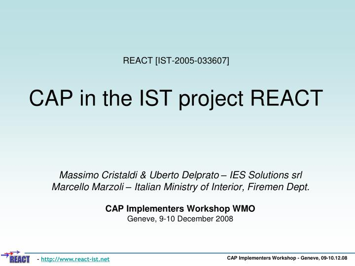 React ist 2005 033607 cap in the ist project react l.jpg