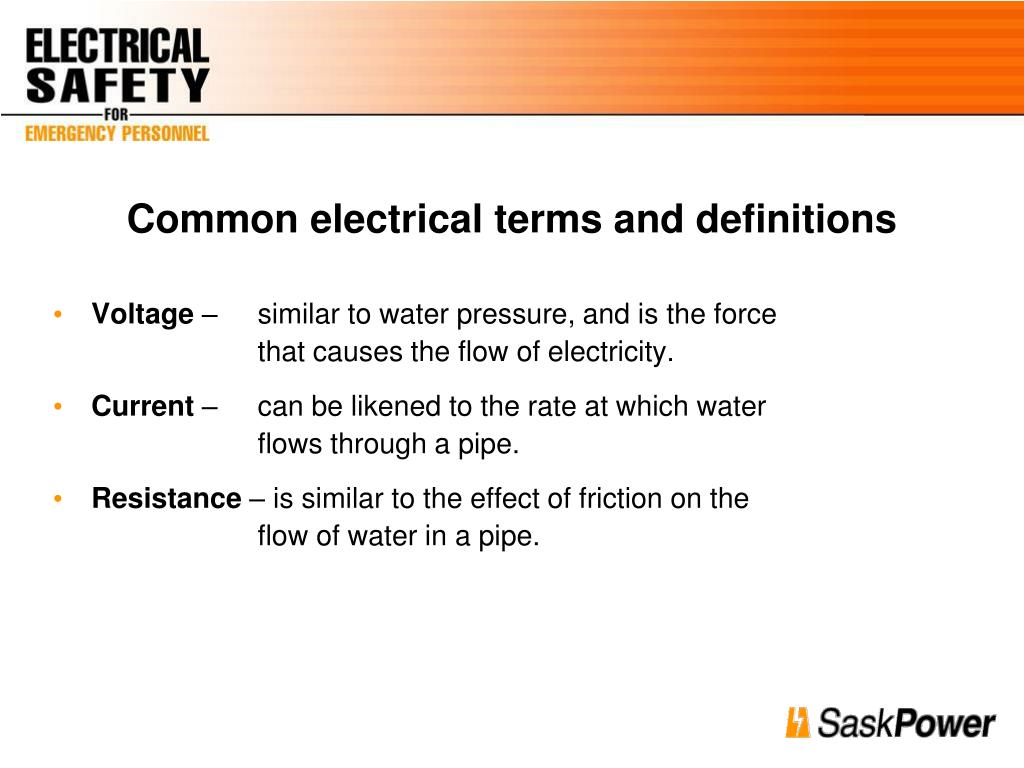 Common electrical terms and definitions