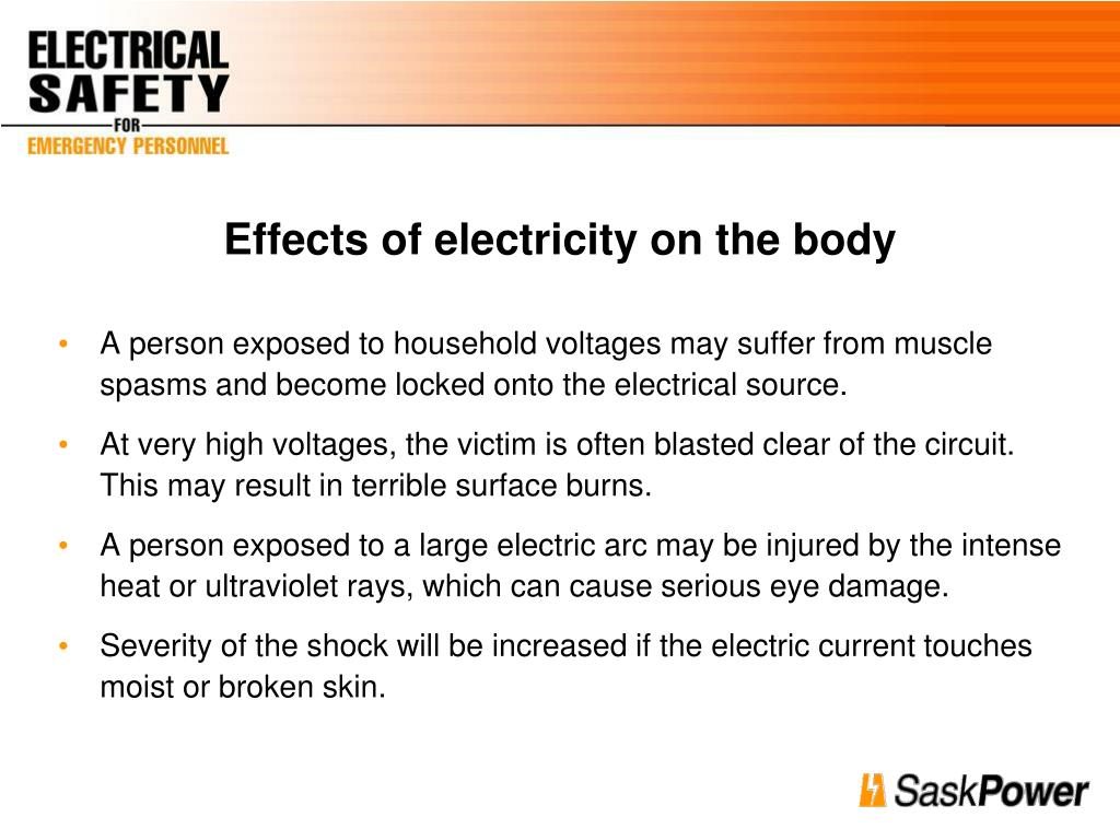Effects of electricity on the body