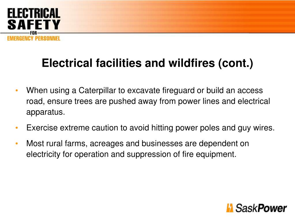 Electrical facilities and wildfires (cont.)