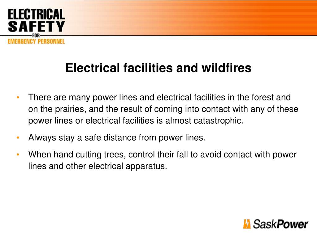 Electrical facilities and wildfires