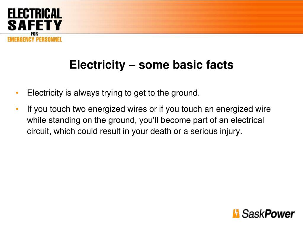 Electricity – some basic facts