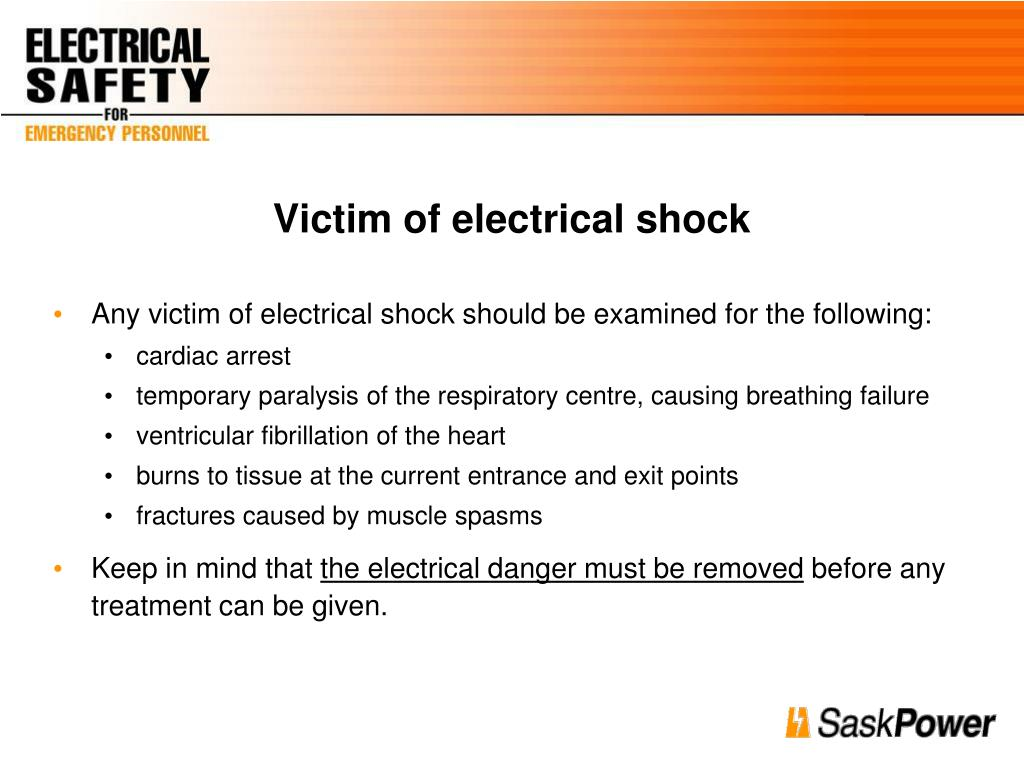 Victim of electrical shock