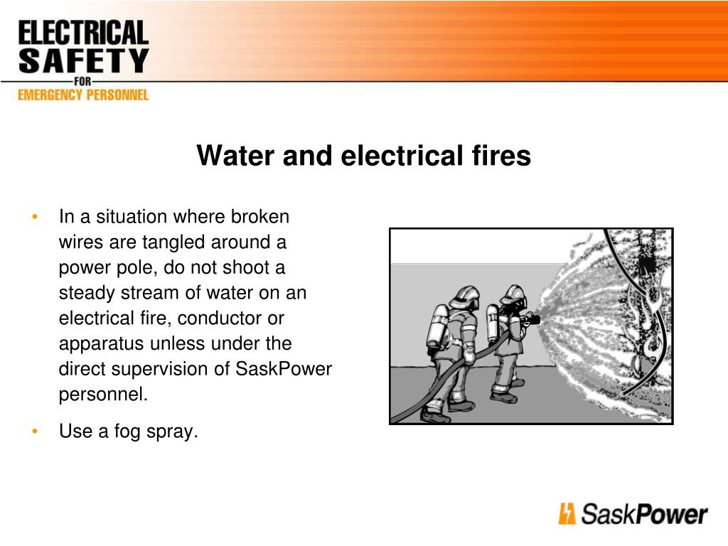 Water and electrical fires