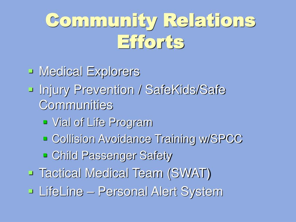 Community Relations Efforts