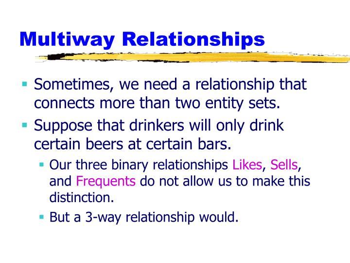 Multiway Relationships