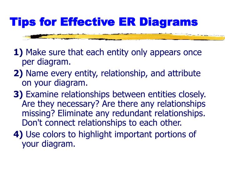 Tips for Effective ER Diagrams
