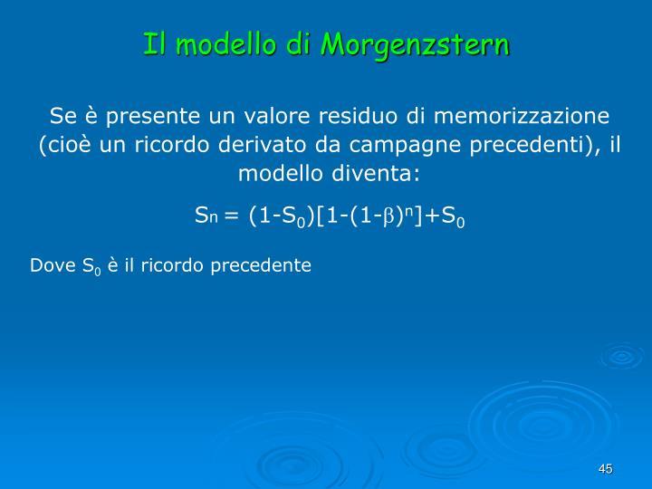 Il modello di Morgenzstern