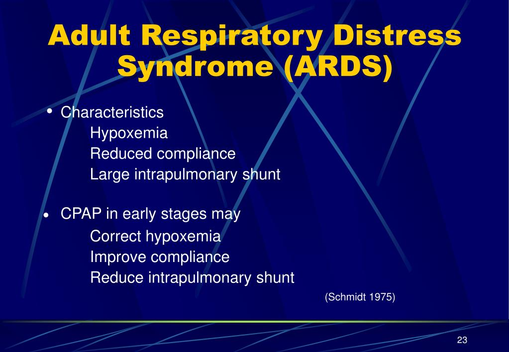 Adult Respiratory Distress Syndrome (ARDS)