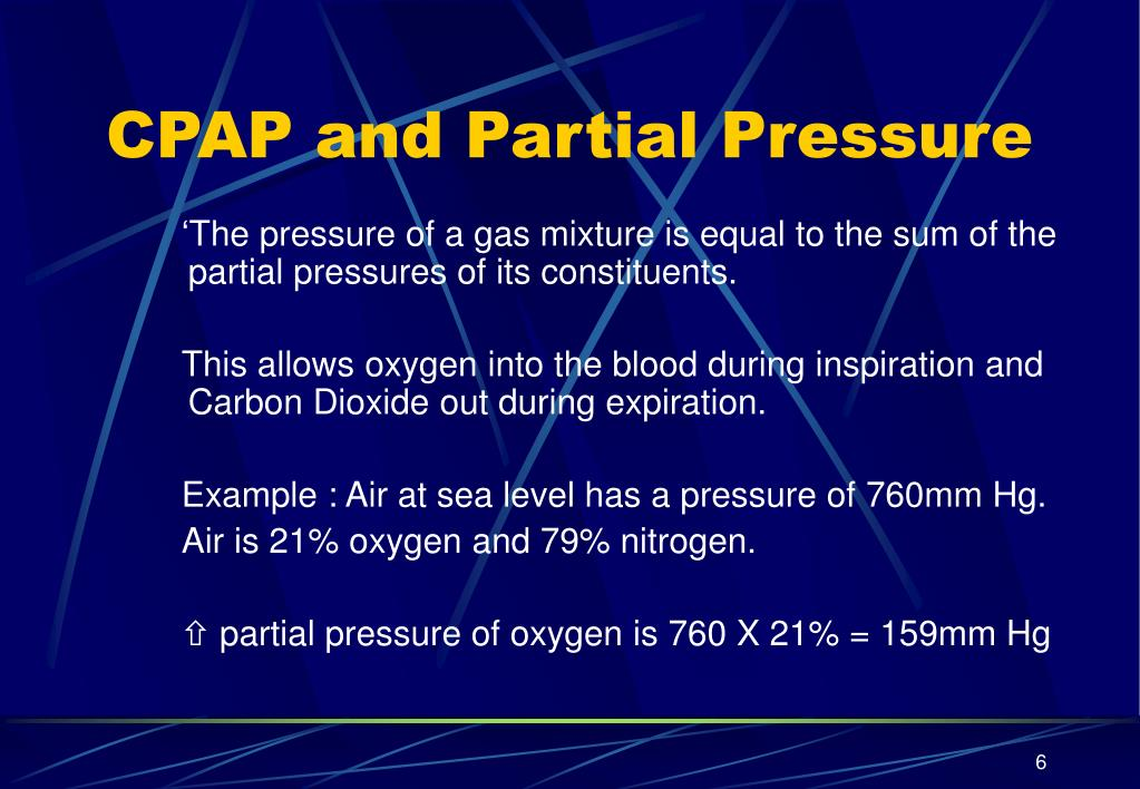 CPAP and Partial Pressure