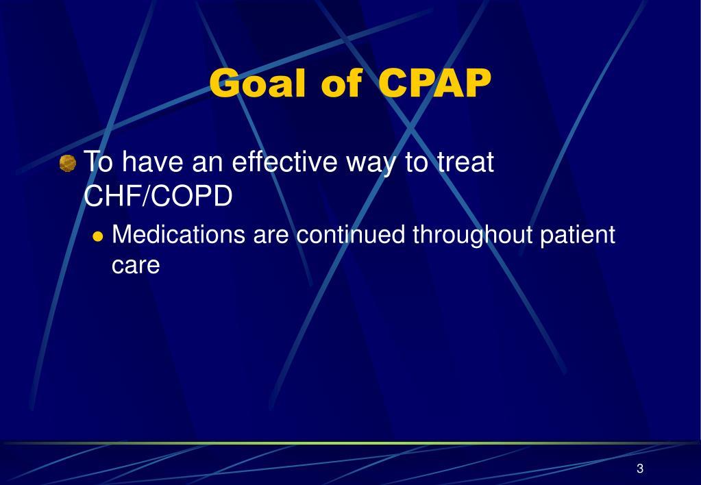 Goal of CPAP