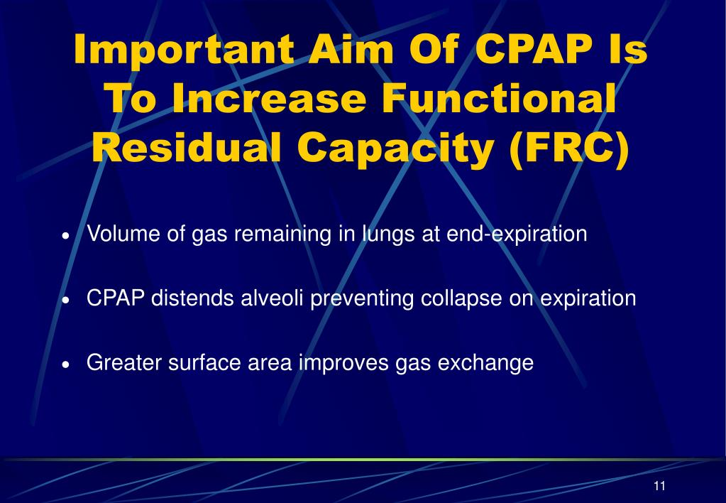 Important Aim Of CPAP Is To Increase Functional Residual Capacity (FRC)