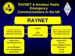 raynet amateur radio emergency communications in the uk