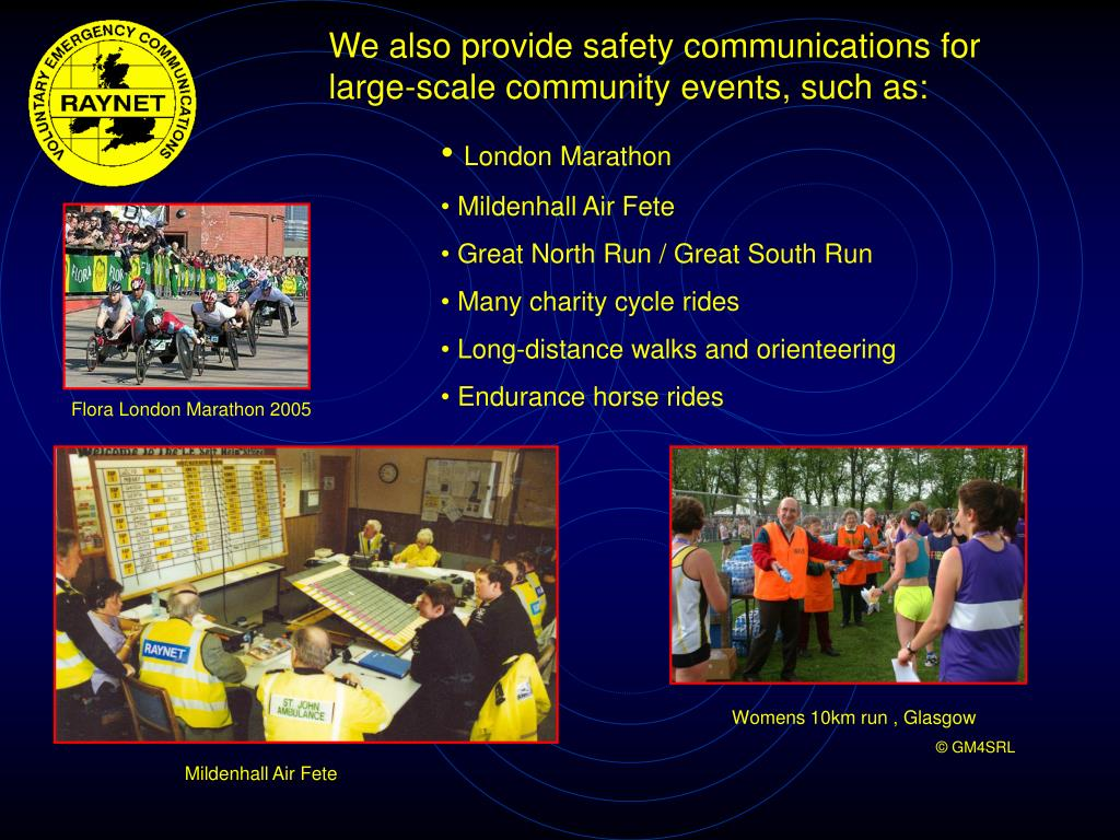 We also provide safety communications for