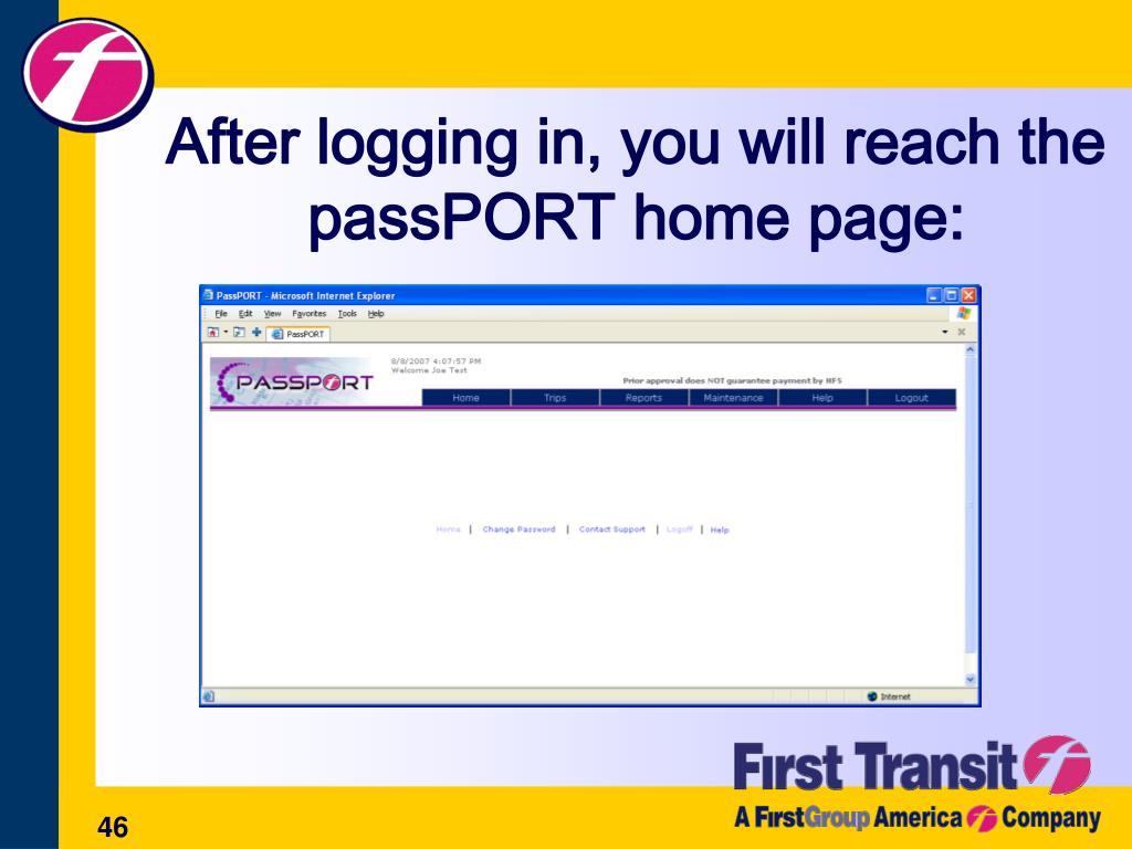 After logging in, you will reach the passPORT home page: